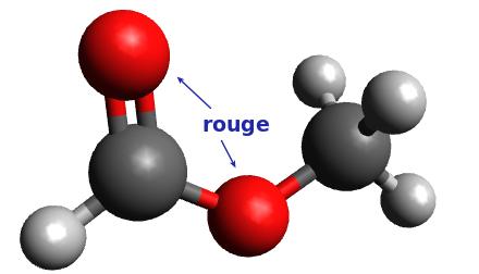 Molécule n°2 : Méthanoate de méthyle